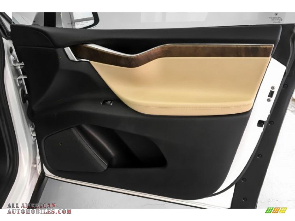 2017 Model X 75D - Pearl White Multi-Coat / Cream photo #31