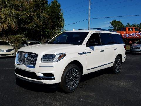 White Platinum Metallic Tri-Coat 2019 Lincoln Navigator Reserve 4x4