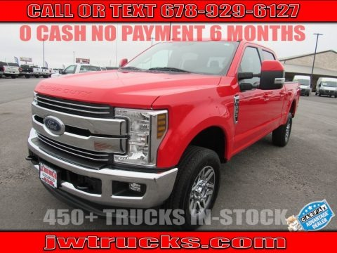 Race Red 2018 Ford F250 Super Duty Lariat Crew Cab 4x4