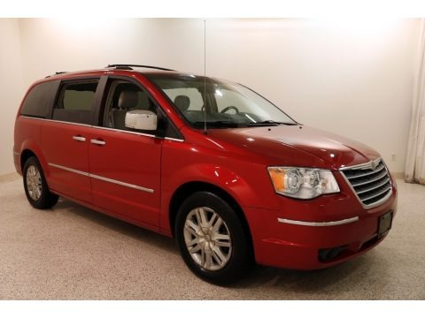 Inferno Red Crystal Pearlcoat 2008 Chrysler Town & Country Limited