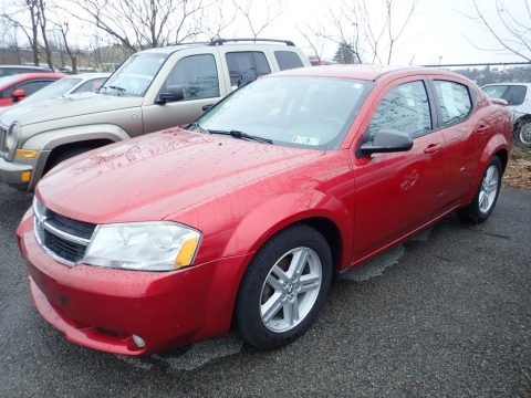 Inferno Red Crystal Pearl 2008 Dodge Avenger SXT
