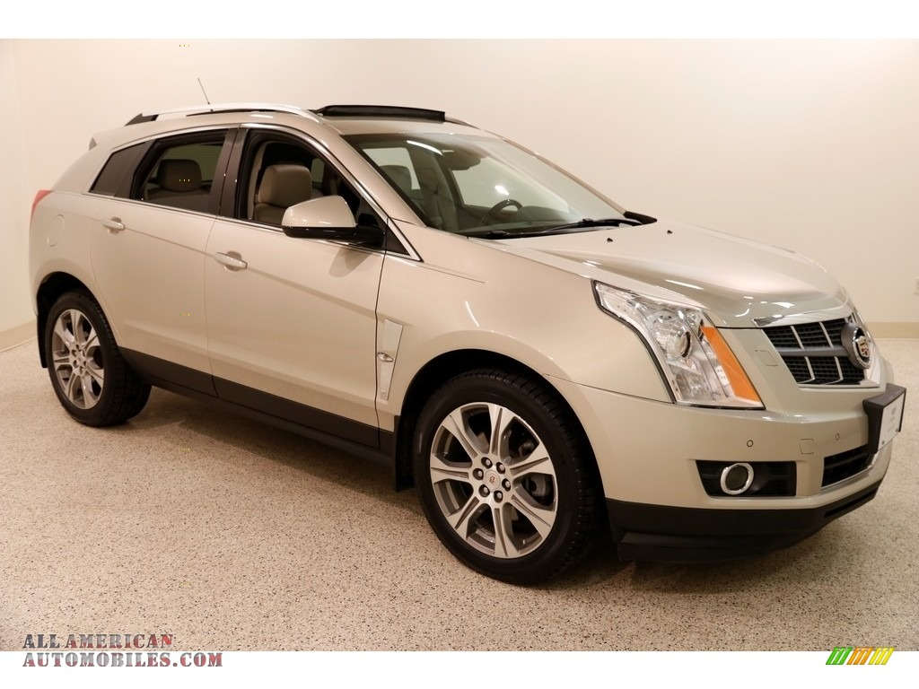 Gold Mist Metallic / Shale/Brownstone Cadillac SRX Performance