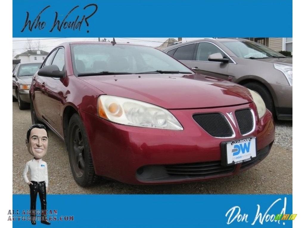 2008 G6 Sedan - Performance Red Metallic / Ebony Black photo #1