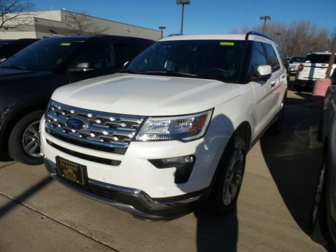 White Platinum 2019 Ford Explorer Limited 4WD