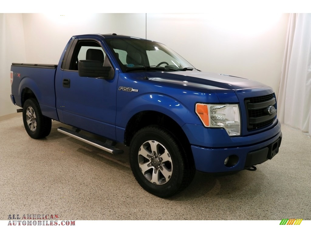2013 F150 STX Regular Cab 4x4 - Blue Flame Metallic / Steel Gray photo #1