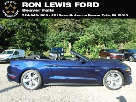 Kona Blue 2019 Ford Mustang GT Premium Convertible