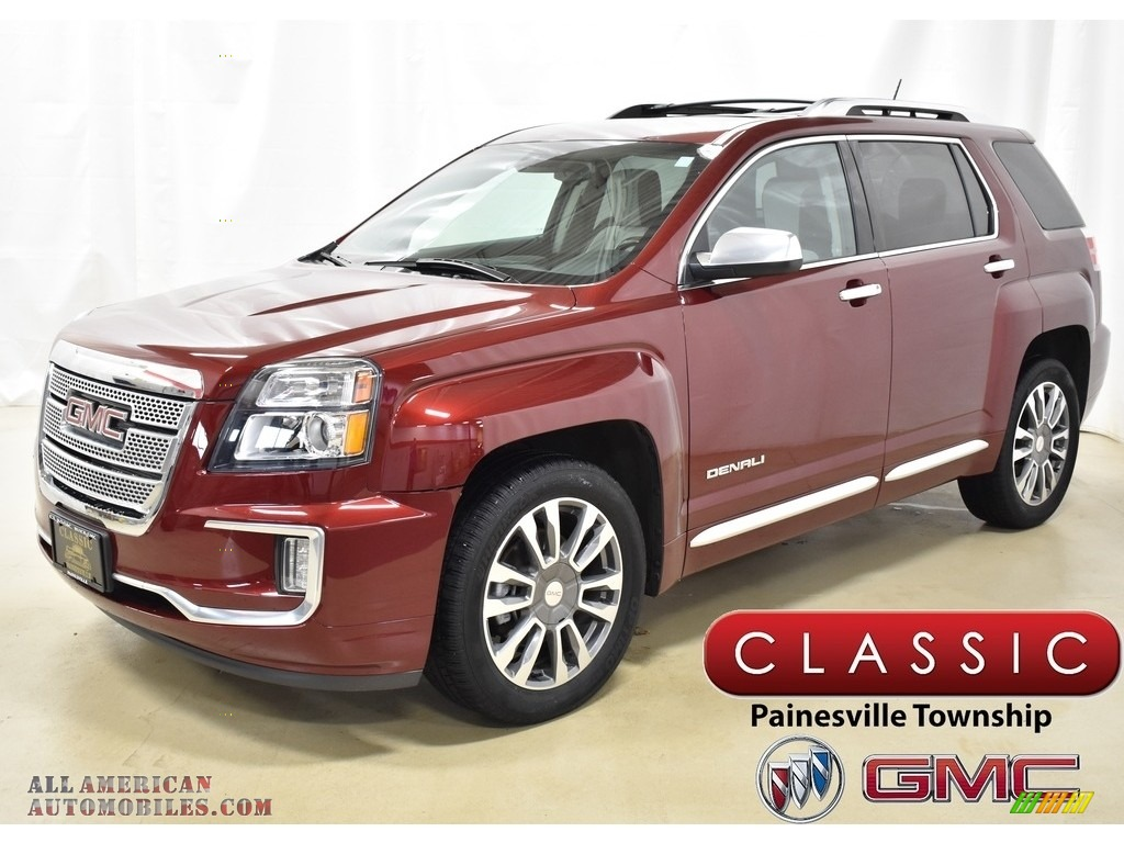 2016 Terrain Denali AWD - Crimson Red Tintcoat / Light Titanium photo #1