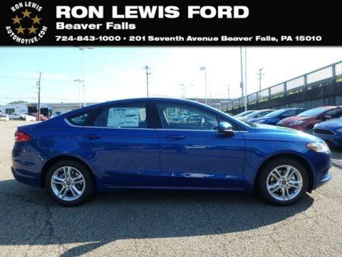 Lightning Blue 2018 Ford Fusion SE