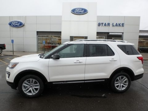 Oxford White 2019 Ford Explorer XLT 4WD