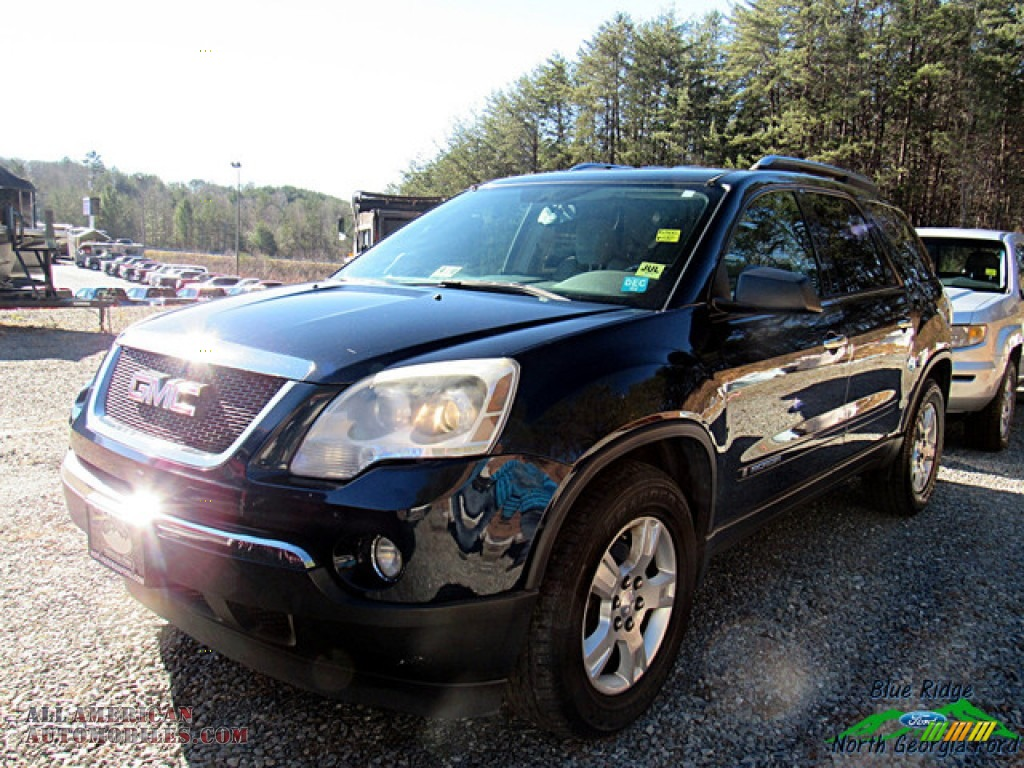2008 Acadia SLE AWD - Deep Blue Metallic / Light Titanium photo #1