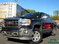 GMC Sierra 1500 SLT Crew Cab 4x4 Onyx Black photo #1