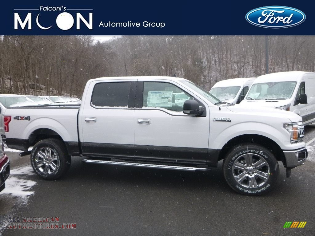 2019 F150 XLT SuperCrew 4x4 - Oxford White / Earth Gray photo #1