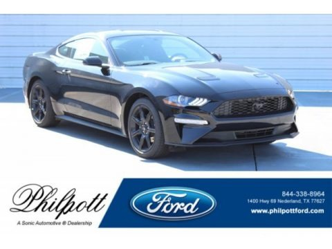 Shadow Black 2019 Ford Mustang EcoBoost Fastback