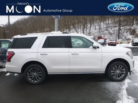 White Platinum Metallic Tri-Coat 2019 Ford Expedition Limited 4x4