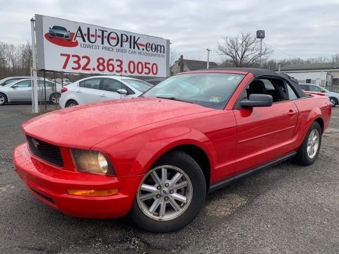 Torch Red 2007 Ford Mustang V6 Deluxe Convertible