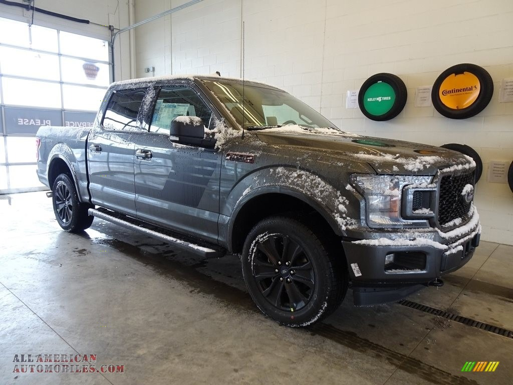 2019 F150 XLT Sport SuperCrew 4x4 - Magnetic / Sport Black/Red photo #1