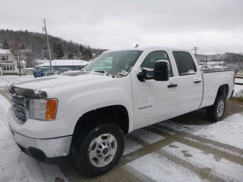 Summit White 2012 GMC Sierra 2500HD SLE Crew Cab 4x4