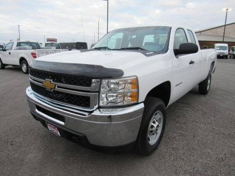 Summit White 2012 Chevrolet Silverado 2500HD Work Truck Extended Cab 4x4