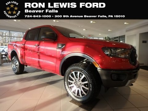 Hot Pepper Red Metallic 2019 Ford Ranger XLT SuperCrew 4x4