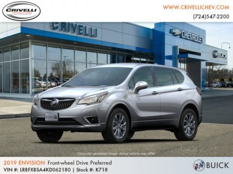 Galaxy Silver Metallic 2019 Buick Envision Preferred