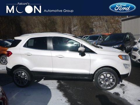 White Platinum Metallic 2019 Ford EcoSport Titanium 4WD