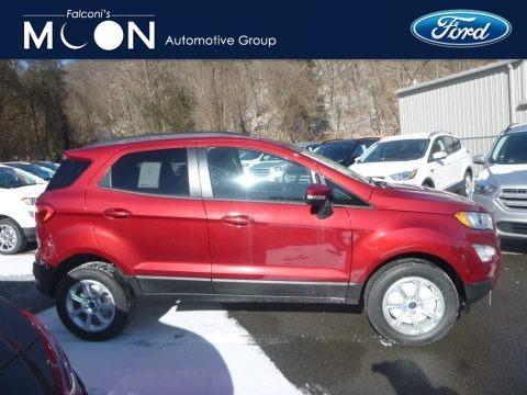 Ruby Red Metallic 2019 Ford EcoSport SE 4WD