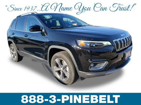 Diamond Black Crystal Pearl 2019 Jeep Cherokee Limited 4x4