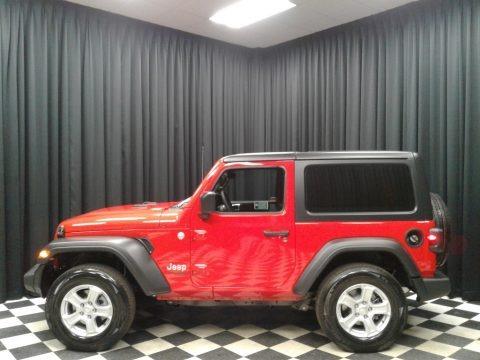 Firecracker Red 2019 Jeep Wrangler Sport 4x4