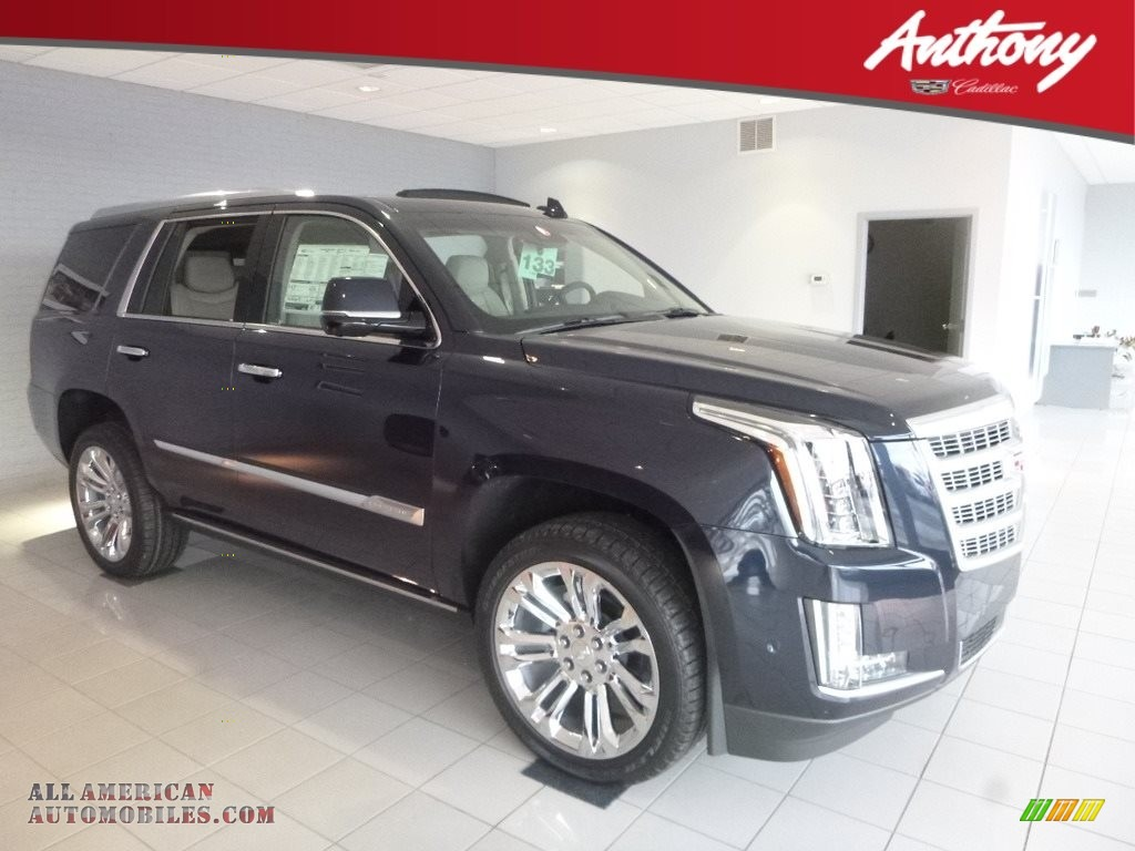 2019 Escalade Premium Luxury 4WD - Dark Adriatic Blue Metallic / Shale/Jet Black Accents photo #1