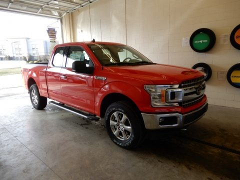 Race Red 2019 Ford F150 XLT SuperCab 4x4