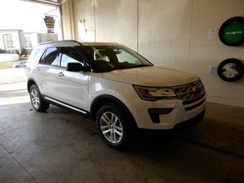 White Platinum 2019 Ford Explorer XLT 4WD