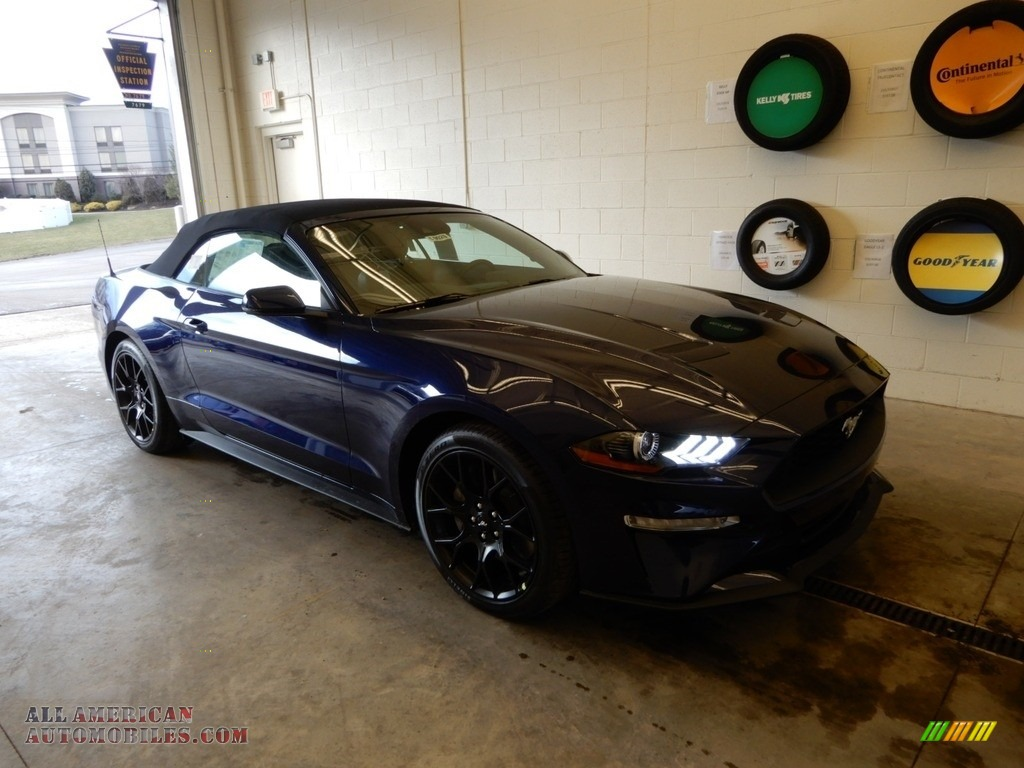2019 Mustang EcoBoost Premium Convertible - Kona Blue / Ebony photo #1