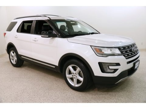 White Platinum Metallic Tri-Coat 2016 Ford Explorer XLT 4WD