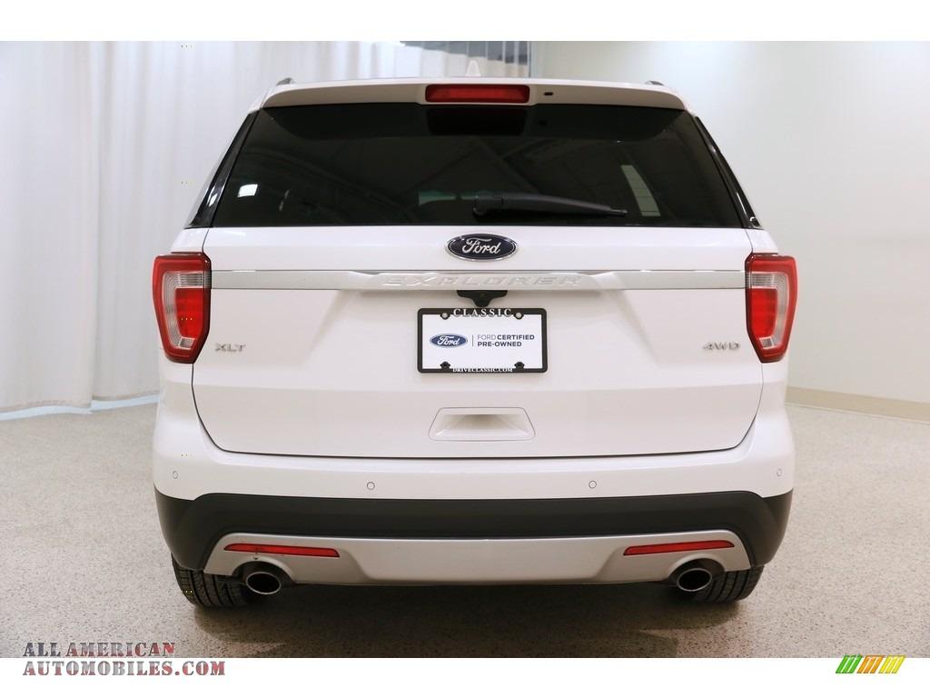 2016 Explorer XLT 4WD - White Platinum Metallic Tri-Coat / Ebony Black photo #22