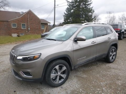 Light Brownstone Pearl 2019 Jeep Cherokee Limited 4x4