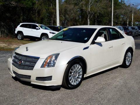 White Diamond Tricoat 2010 Cadillac CTS 3.0 Sedan