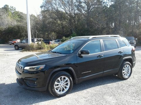 Diamond Black Crystal Pearl 2019 Jeep Cherokee Latitude
