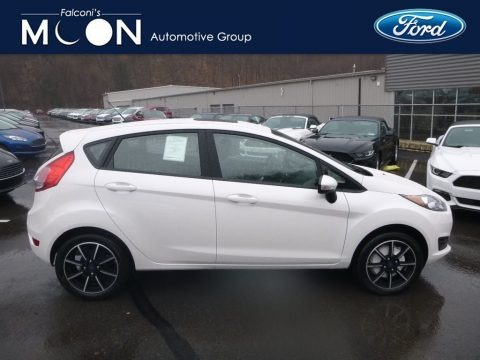 White Platinum 2019 Ford Fiesta SE Hatchback