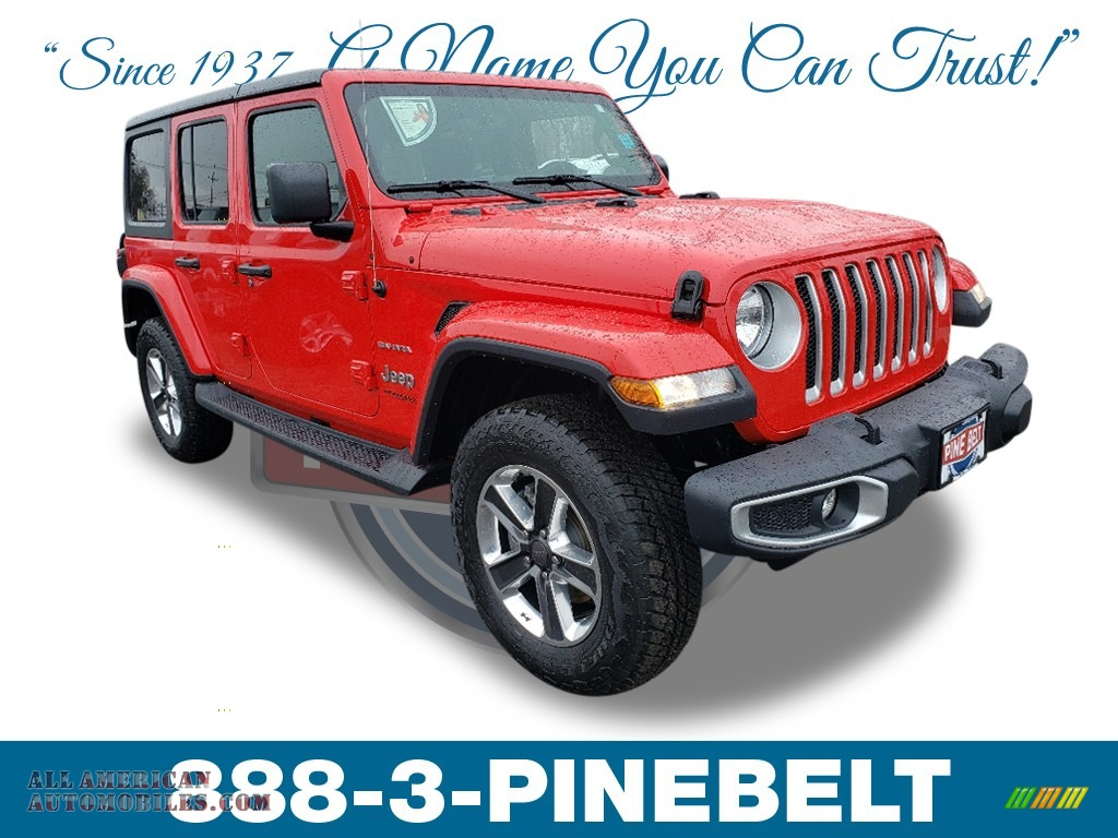 2019 Wrangler Unlimited Sahara 4x4 - Firecracker Red / Black photo #1