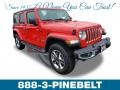 Jeep Wrangler Unlimited Sahara 4x4 Firecracker Red photo #1