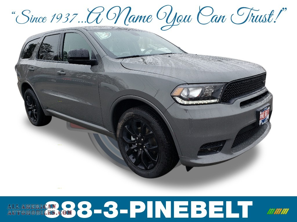 2019 Durango GT AWD - Destroyer Gray / Black photo #1