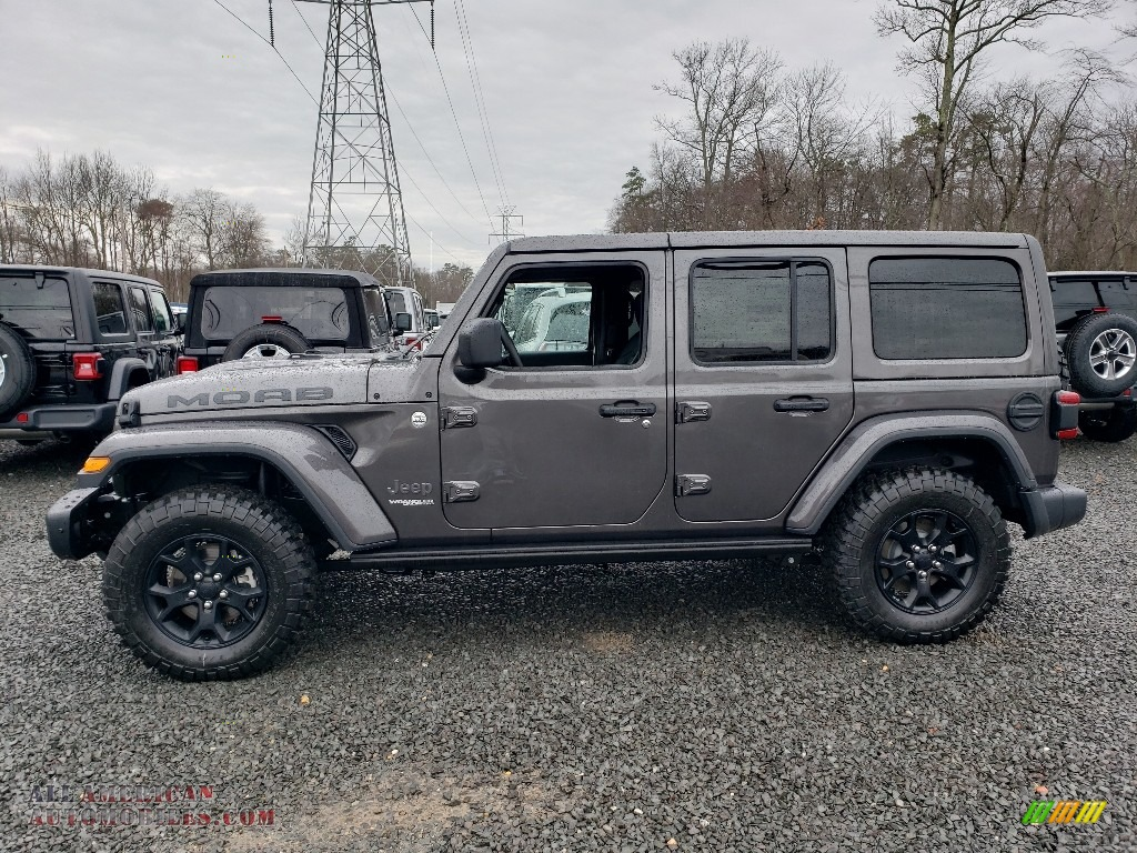 2019 Wrangler Unlimited MOAB 4x4 - Granite Crystal Metallic / Black photo #3
