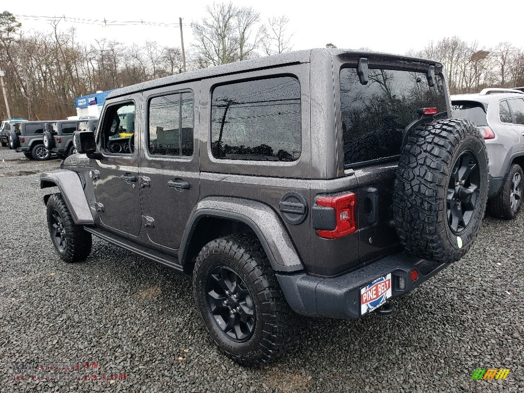 2019 Wrangler Unlimited MOAB 4x4 - Granite Crystal Metallic / Black photo #4