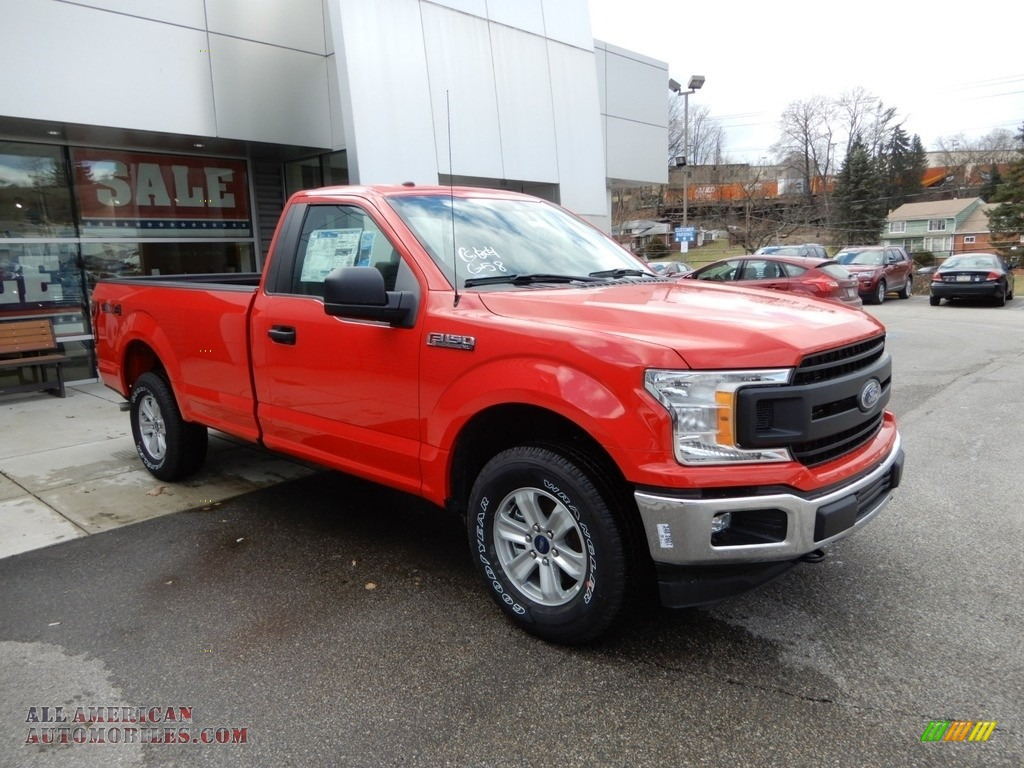 2019 F150 XL Regular Cab - Race Red / Earth Gray photo #1