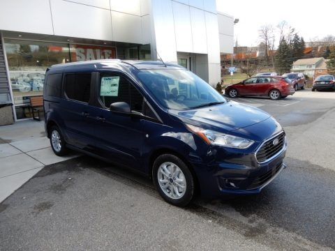 Dark Blue 2019 Ford Transit Connect XLT Passenger Wagon