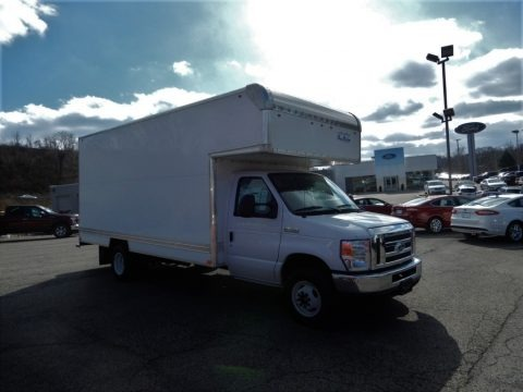 Oxford White 2019 Ford E Series Cutaway E450 Commercial Utility Truck