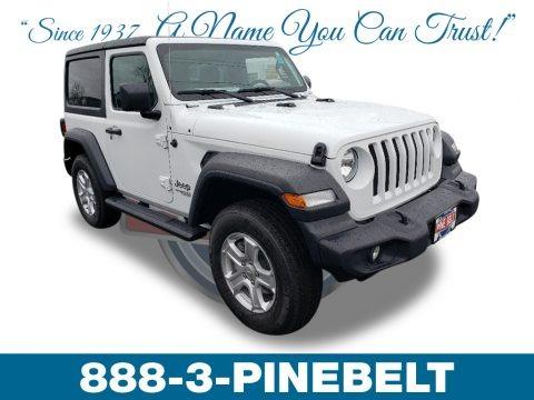 Bright White 2019 Jeep Wrangler Sport 4x4