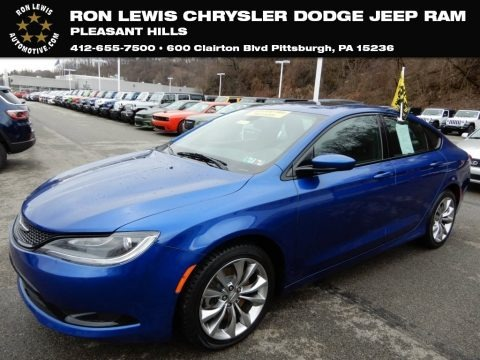 Vivid Blue Pearl 2015 Chrysler 200 S