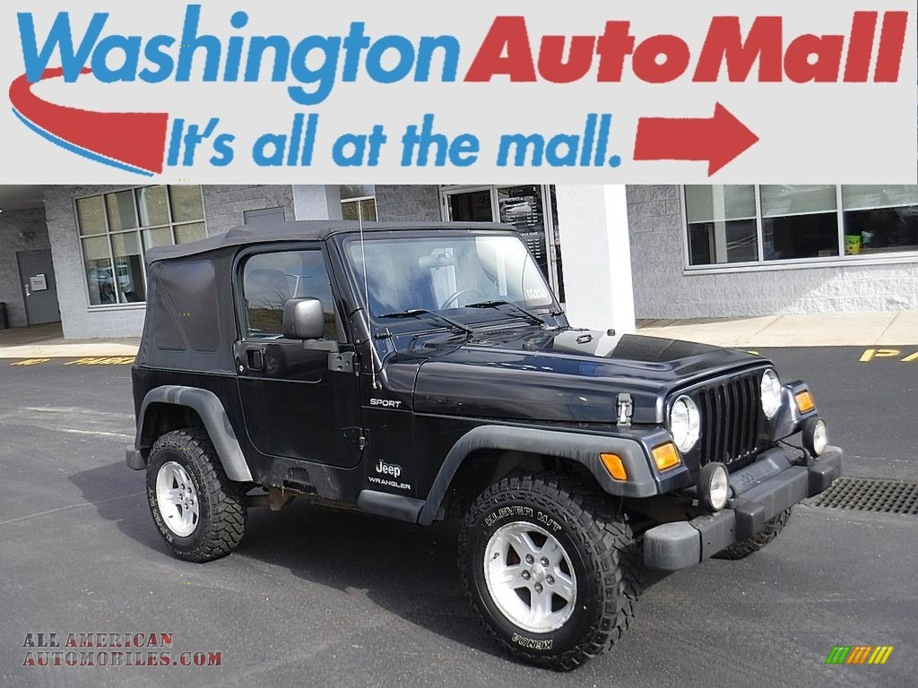 2006 Wrangler Sport 4x4 - Black / Dark Slate Gray photo #1
