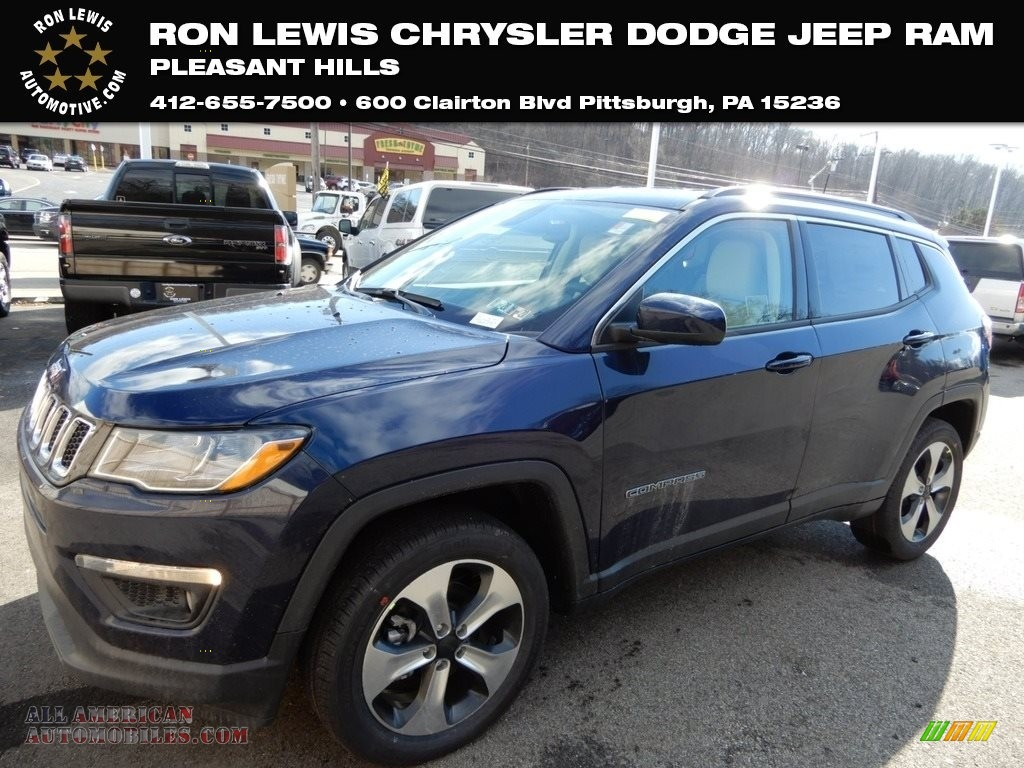Jazz Blue Pearl / Black/Ski Gray Jeep Compass Latitude 4x4
